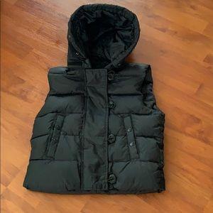 Gap puffer vest w hood- Xs